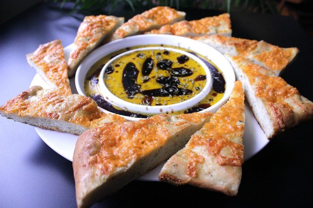 Cheesy Focaccia Flatbread. Salty and flavourful, this cheesy focaccia flatbread is sure to stir your senses.