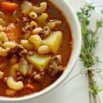 Pin this hamburger soup recipe for later!