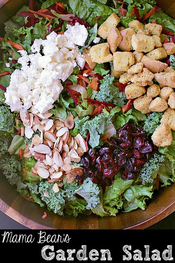 Pin this garden salad recipe for later!