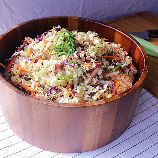 Asian Crunchy Noodle Salad. An asian inspired crunchy noodle salad with crisp vegetables and toasted goodness.