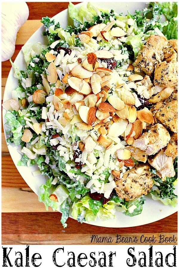 pin this kale Caesar salad recipe for later!