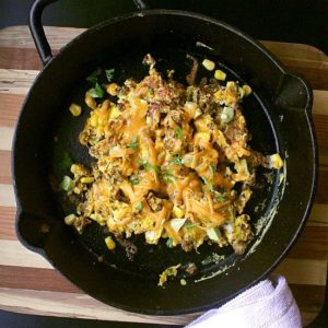 Mexican Scrambled Eggs. The best way to use up leftover taco meat!