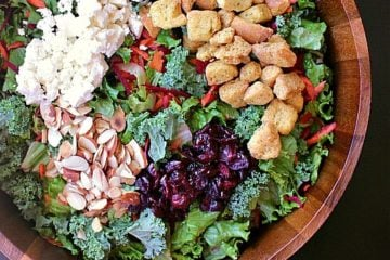 Mama Bear's Garden Salad. Fresh meets toasty goodness in this salad bursting with flavour and depth.