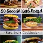 Pin this 90 Second Keto Bread recipe for later!