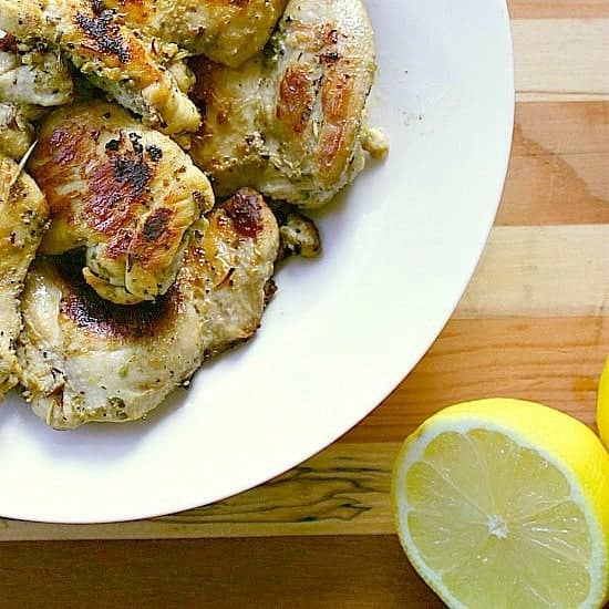 Lemon Herb Chicken Thighs. These lemon herb chicken thighs are bursting with lemony love and marinated with Italian herbs. A delicious low carb protein for easy healthy eating!