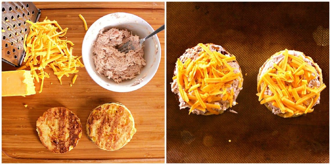 Try this family approved Keto Tuna Melt recipe for a fast and delicious weeknight meal! Ready in under ten minutes, this is a house staple!