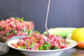 This healthy Loaded Veggie Quinoa Salad is a crowd pleaser and very simple to create!