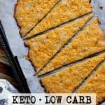 Pin this Cheesy Keto Flatbread recipe for later!