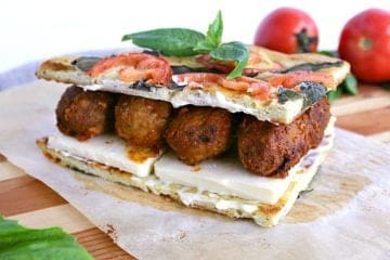 low carb bbq meatball panini.