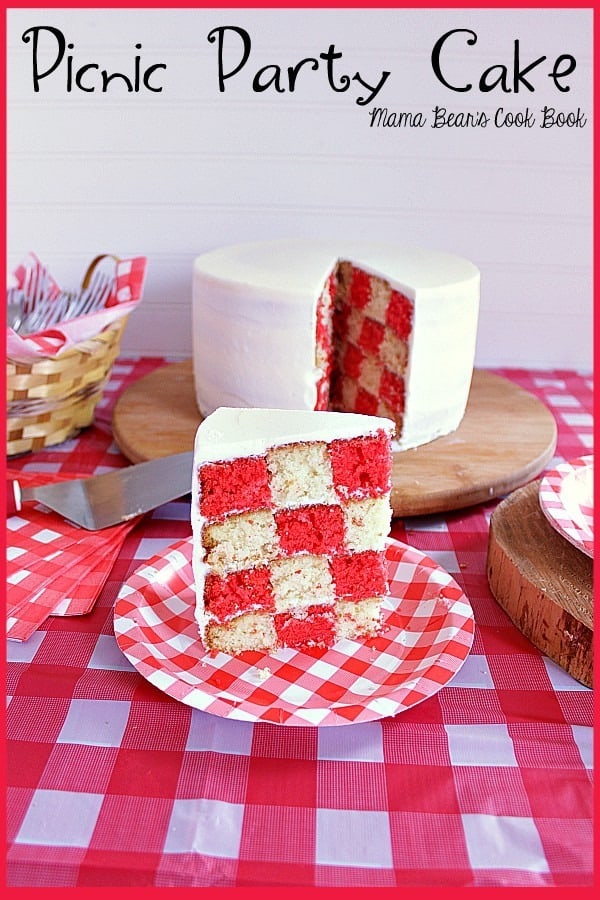Pin this picnic party cake recipe for later!