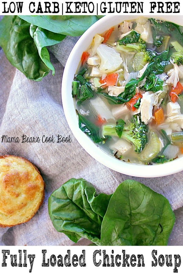 Pin this fully loaded chicken soup recipe for later!