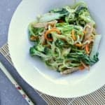 A delicious, healthy and low carb dinner that is ready in under 20 minutes? Count me in! This Low Carb Zucchini Noodle Stir Fry will be your new best friend!
