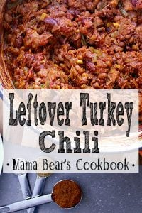 Pin this Leftover Turkey Chili recipe for later!