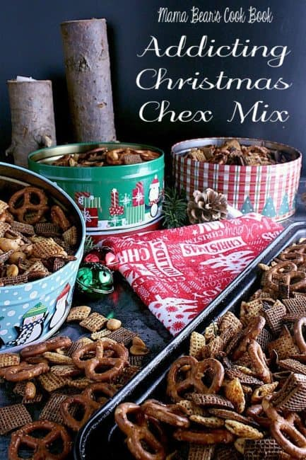 Pin this Christmas Chex Mix recipe for later!