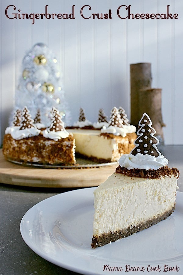 Pin this gingerbread crust cheesecake recipe for later!