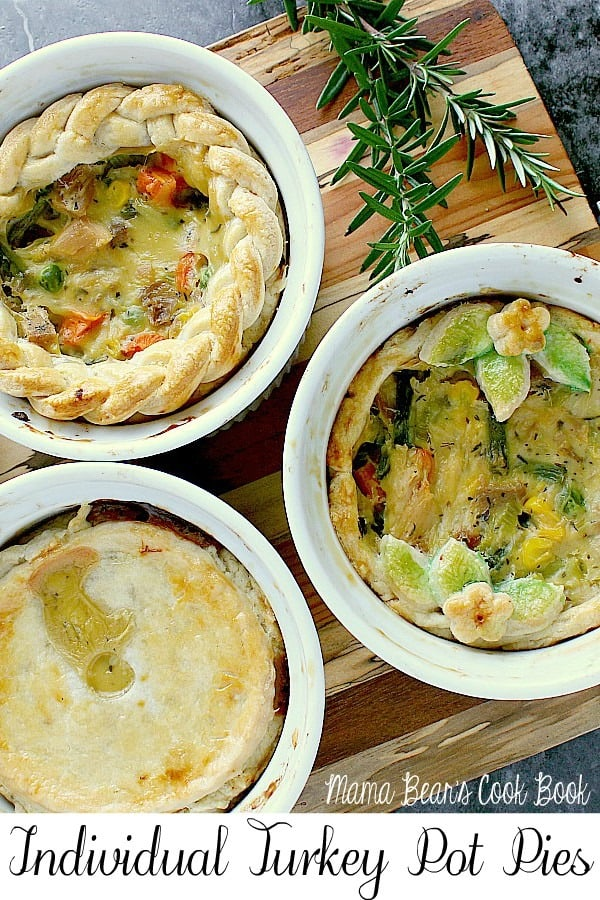 Pin this individual turkey pot pies recipe for later!