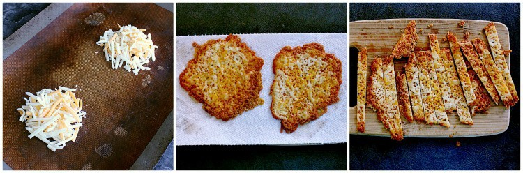 How to make cheese crisps collage.