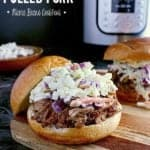 Pin this Instant Pot Pulled Pork recipe for later!