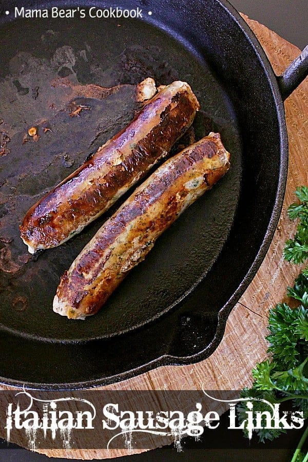 These mild Italian sausage links are bursting with flavour and a touch of spice. Take the plunge and give them a shot! #homemade #sausages #italiansausage #mamabearscookbook