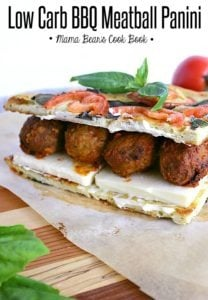 Pin this low carb meatball panini for later!