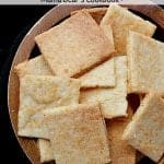 Pin this Crunchy Low Carb Cheese Crackers recipe for later!