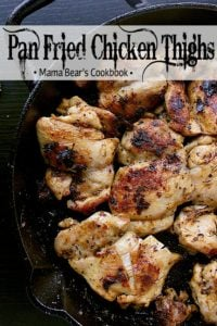 Pin this pan fried chicken thighs recipe for later!