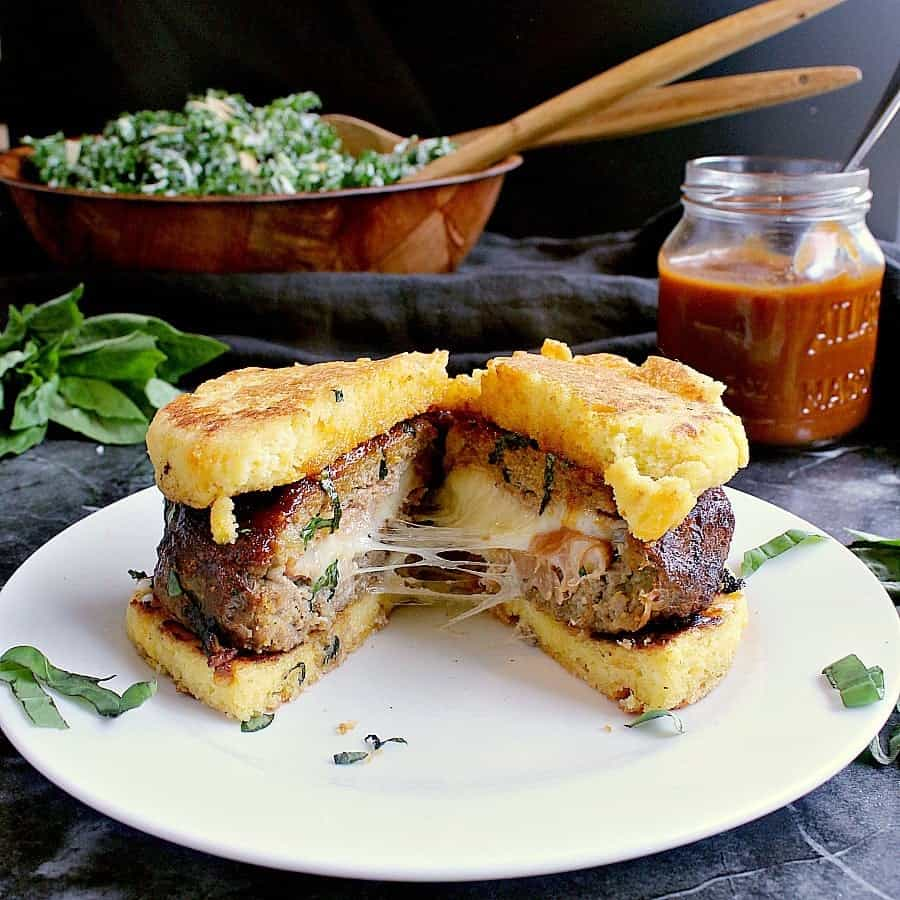 Amplify burger night with these incredibly delicious Low Carb Burgers stuffed with prosciutto and bocconcini. Every bite is like finding treasure!