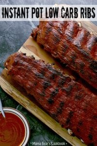 Pin this Instant Pot Low Carb Ribs recipe for later!