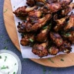 The perfect addition to appie night, these flavour packed Low Carb Baked Chicken Wings are finger lickin' delicious and would make a great potluck dish!