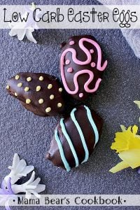Pin this Low Carb Easter Eggs recipe for later!