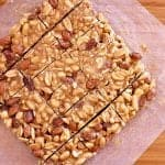 Overhead view of all twelve low carb nut bars.