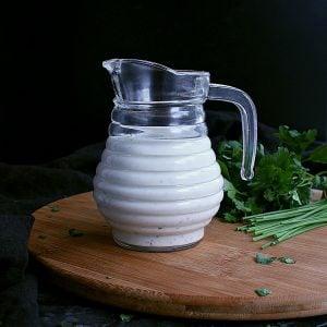 Jar of Low Carb Ranch Dressing.