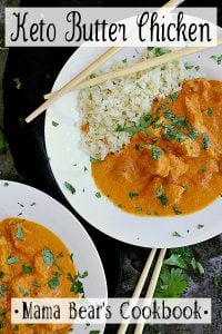 Pin this keto butter chicken recipe for later!