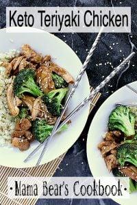 Pin this Keto Teriyaki Chicken recipe for later!