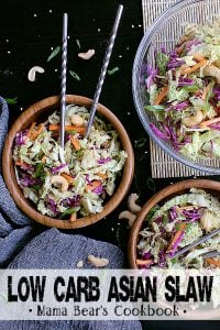 Pin this low carb asian slaw recipe for later!