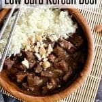 Pin this Instant Pot Low Carb Korean Beef recipe for later!