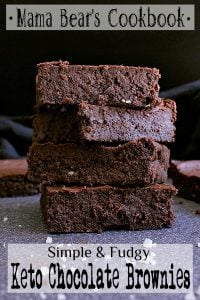 Pin this Keto Chocolate Brownies recipe for later!