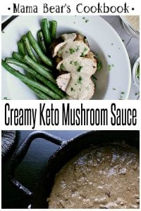Pin this Creamy Keto Mushroom Sauce recipe for later!