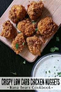 Pin these Crispy Low Carb Chicken Nuggets for later!