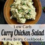 Pin this low carb curry chicken salad recipe for later!