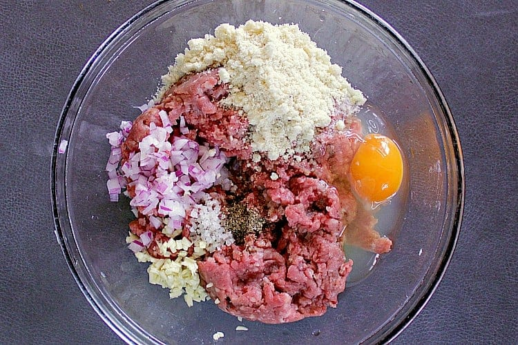 Bowl with all of the ingredients.