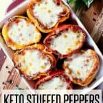 Pin this Keto Stuffed Peppers recipe for later!