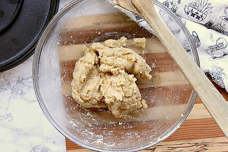 Almond flour tortilla dough all ready to go.