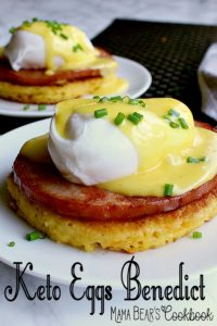 Pin this keto eggs benedict recipe for later!
