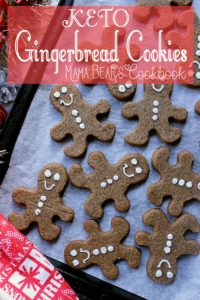 Pin this keto gingerbread cookie recipe for later!