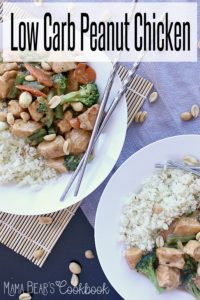 Pin this low carb peanut chicken recipe for later!