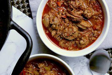 Two bowls of Keto Chili.