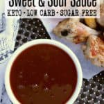 Pin this keto sweet and sour sauce recipe for later!