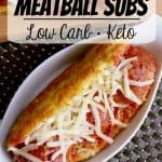 Pin this Keto Meatballs Sub recipe for later!