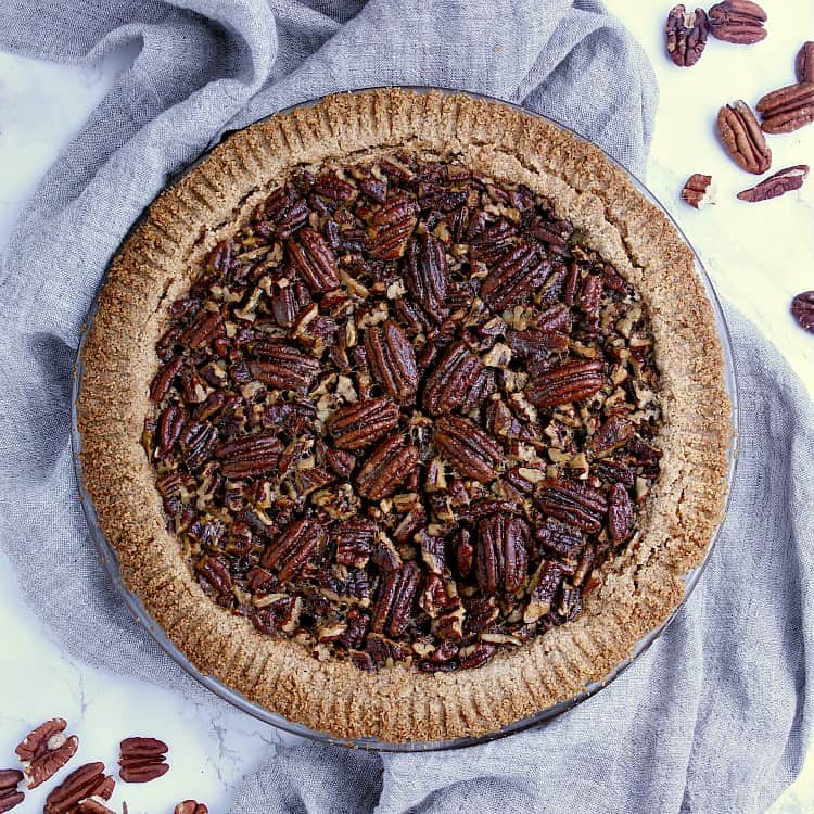 Fully baked Keto Pecan Pie.